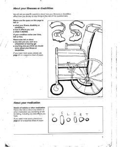 A manual for a wheelchair